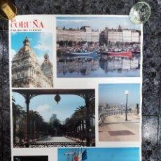 Carteles de Turismo: POSTER GRAN FORMATO DE LA CORUÑA 1 M X 0,70 CM.. Lote 222375805