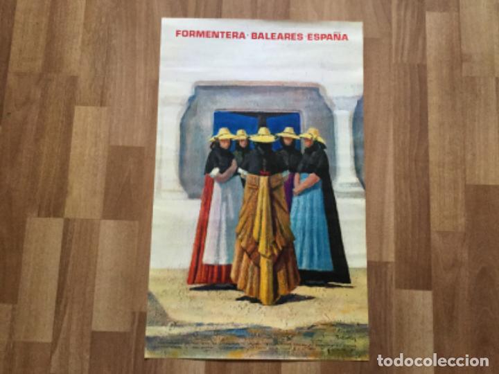 CARTEL ANTIGUO FORMENTERA. ESPAÑA -1971- FIRMADO BATALLER. MINISTERIO TURISMO - 100X68 CMS FOURNIER (Coleccionismo - Carteles Gran Formato - Carteles Turismo)
