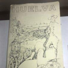 Carteles de Turismo: CARPETA CON CARTELES TURISTICOS HUELVA - OSCAR MARINE/CHISTIAN BOYER - AÑOS 90 - 41.5X67.5CM - VER. Lote 224026842