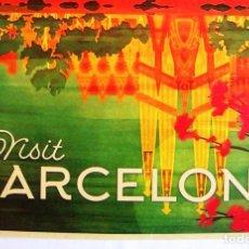 Carteles de Turismo: CARTEL POSTER RETRO MODERNISTA TURISMO - VISITE BARCELONA, CATALUÑA.. Lote 288330753