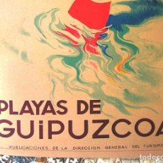 Carteles de Turismo: CARTEL POSTER RETRO MODERNISTA TURISMO - PLAYAS DE GUIPUZCOA - VIZCAYA - PAIS VASCO - EUZKADI.. Lote 288328738