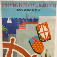 Carteles de Turismo: CARTEL. DIA DE LA PROVINCIA. VILLANUEVA Y GELTRÚ. 1965. FIRMADO CARLOS. IMP. SEIX Y BARRAL.. Lote 225765430