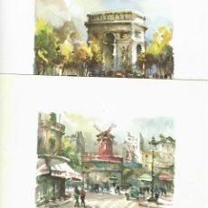 Carteles de Turismo: LOTE DE 8 LÁMINAS CON VISTAS DE PARIS. Lote 226249370