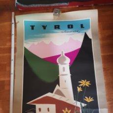 Carteles de Turismo: POSTER CARTEL ARTHUR ZELGER - TYROL AUSTRIA POSTER TURISMO TIROL VIAJES RARO COLECCION VIAJE AÑOS 50. Lote 226747160