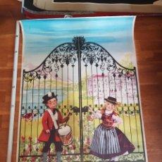 Carteles de Turismo: POSTER CARTEL AÑOS 50 ORIGINAL VINTAGE AUSTRIA TRAVEL POSTER KIDS AT GATE NIÑOS EN PUERTA. Lote 226889375