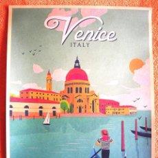 Carteles de Turismo: CARTEL POSTER RETRO - VENICE VENECIA, ITALIA - CITY OF WATER - CIUDAD DE AGUA.. Lote 228410170