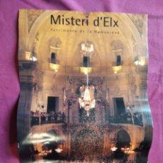 Carteles de Turismo: POSTER LAMINA EL MISTERIO DE ELCHE 30 X 45 CM. Lote 228495695