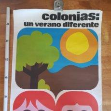 Carteles de Turismo: COLONIAS CARTEL GRUP L'ALL VILA TARRUELLA POSTER ANTIGUO NIÑOS TURISMO COLEGIO DIBUJOS OFFSETARTIS. Lote 229472625