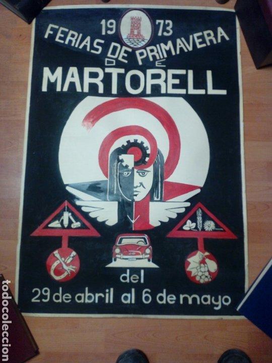 CARTEL FERIAS PRIMAVERA 1973 DE MARTORELL (Coleccionismo - Carteles Gran Formato - Carteles Turismo)
