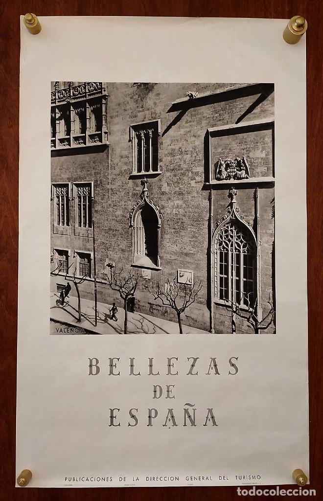 Carteles de Turismo: CARTEL: BELLEZAS DE ESPAÑA. VALENCIA. DIRECCIÓN GENERAL DEL TURISMO. KINDEL. 100 x 62 cm. - Foto 2 - 234891500