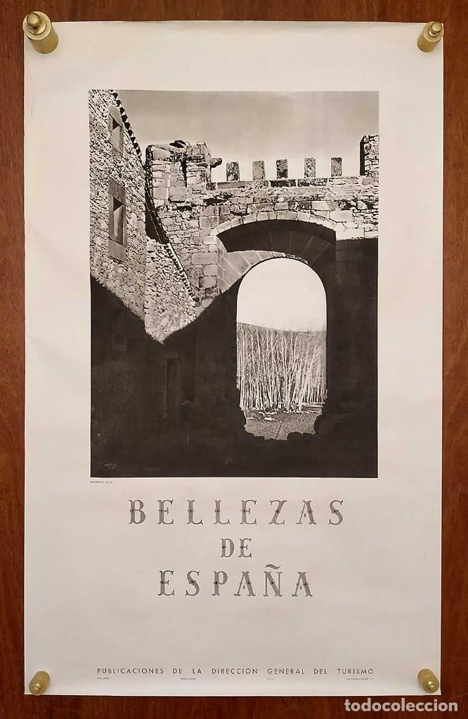 Carteles de Turismo: CARTEL: BELLEZAS DE ESPAÑA. RETORTILLO. SORIA. DIR.GRAL. DEL TURISMO. KINDEL. 100 x 62 cm. - Foto 2 - 235231780