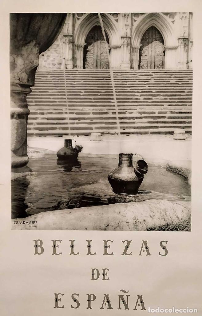 CARTEL: BELLEZAS DE ESPAÑA. GUADALUPE. CACERES. DIR.GRAL. DEL TURISMO. S. DE KASKEL. 100 X 62 CM. (Coleccionismo - Carteles Gran Formato - Carteles Turismo)