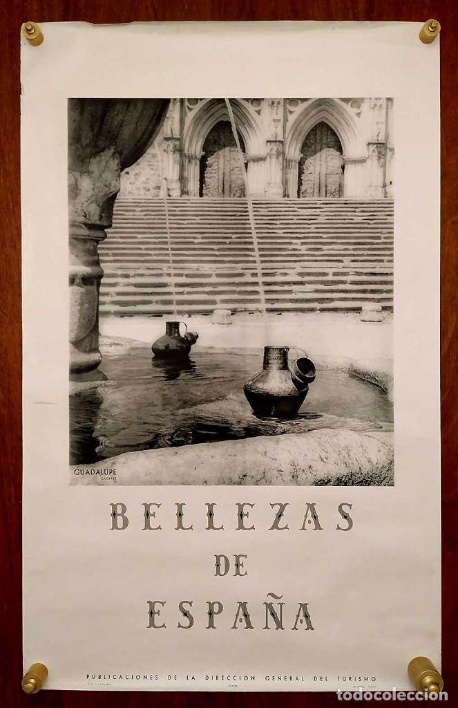 Carteles de Turismo: CARTEL: BELLEZAS DE ESPAÑA. GUADALUPE. CACERES. DIR.GRAL. DEL TURISMO. S. DE KASKEL. 100 x 62 cm. - Foto 2 - 235260660