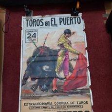 Carteles de Turismo: 3 CARTELES DE TOROS GRAN TAMAÑO PARA RESTAURA CON DEFECTO ALGUNOS MORDISCO VER FOTO SE VENDE TAL. Lote 235630815