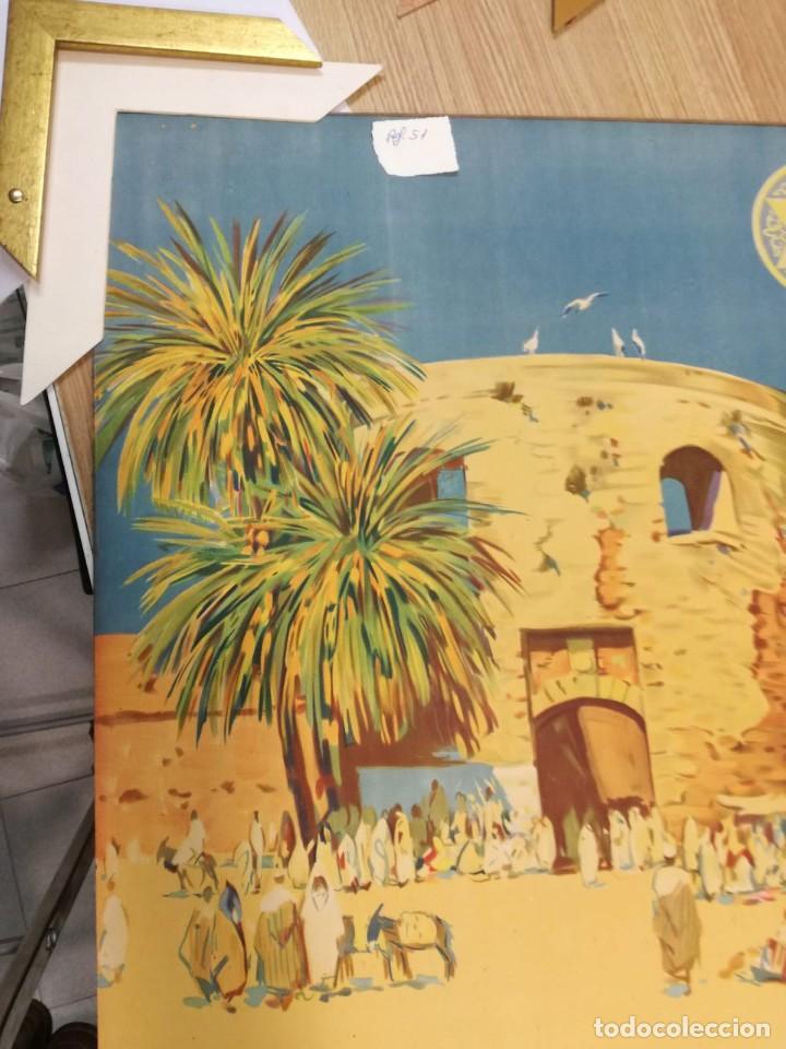 Carteles de Turismo: MARIANO BERTUCHI. 2 IMPRESIONES A COLOR. CARTELES TURÍSTICOS PUBLICIDAD. 67X61. ENMARCADO NUEVO. - Foto 6 - 221004467