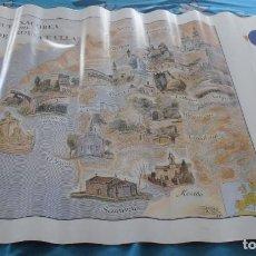 Carteles de Turismo: RUTA XACOBEA DO MAR DE AROUSA E ULLA, FIRMADO SANCHEZ GALLEGO 1992. Lote 243834450