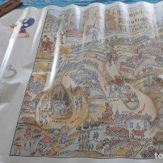 Carteles de Turismo: CAMIÑO DE SANTIAGO NA PROVINCIA DA CORUÑA FIRMADO YEBRA DE ARES. Lote 243835840