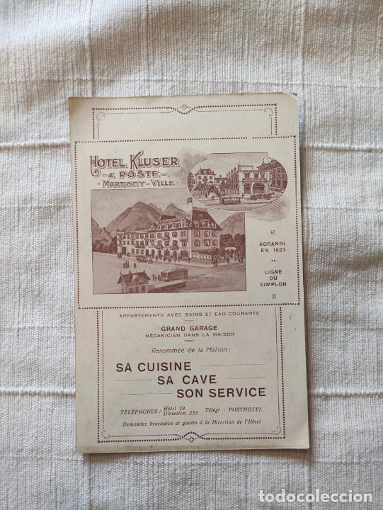 Carteles de Turismo: LE GRAND ST. BERNARD HOTEL KLUSER 17X11 IMPRIMÉ EN SUISSE - Foto 2 - 248235345