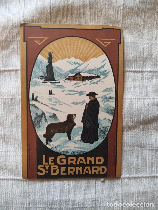 LE GRAND ST. BERNARD HOTEL KLUSER 17X11 IMPRIMÉ EN SUISSE (Coleccionismo - Carteles Gran Formato - Carteles Turismo)