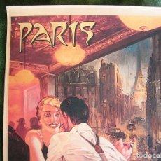 Carteles de Turismo: CARTEL POSTER - RETRO VINTAGE - PARIS, BISTRO, TORRE EIFFEL, FRANCIA.. Lote 288331318