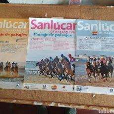 Carteles de Turismo: 3 CARTELES (CARRERAS DE CABALLOS EN SANLÚCAR DE BARRAMEDA. Lote 252248685