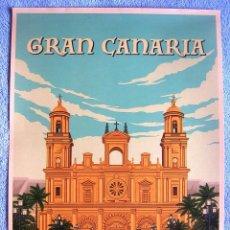 Carteles de Turismo: CARTEL POSTER RETRO TURISMO - GRAN CANARIA, SPAIN - CANARIAS, ESPAÑA.. Lote 288330993