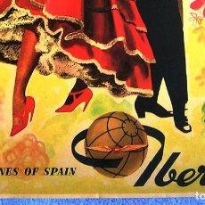 Carteles de Turismo: CARTEL POSTER RETRO - SPAIN - IBERIA LINEAS AEREAS DE ESPAÑA - MUY BUEN ESTADO.. Lote 288330888