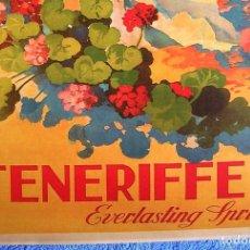 Carteles de Turismo: CARTEL POSTER RETRO TURISMO - TENERIFE, EVERLASTING SPRING - ETERNA PRIMAVERA. CANARIAS, ESPAÑA.. Lote 257600320
