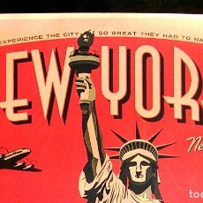 Carteles de Turismo: CARTEL POSTER RETRO - NEW YORK, NUEVA YORK - VEN Y EXPERIMENTA LA CIUDAD TAN GENIAL QUE..... Lote 257600545