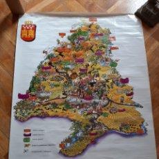 Affissi di Turismo: PÓSTER MAPA COMUNIDAD DE MADRID. CONSEJERÍA DE EDUCACIÓN Y JUVENTUD. 50 X 70 CM. Lote 262711530