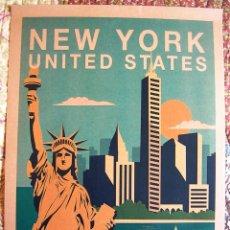 Carteles de Turismo: CARTEL POSTER RETRO - NEW YORK, NUEVA YORK, USA - ESTADOS UNIDOS.. Lote 267554604