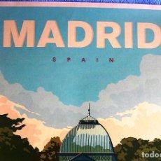 Carteles de Turismo: CARTEL POSTER RETRO TURISMO - MADRID BUEN RETIRO PARK AND THE CRYSTAL PALACE. SPAIN.. Lote 268605689