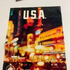 Carteles de Turismo: ESPECTACULAR POSTER IBERIA-USA IDEAL PARA DECORAR Y ENMARCAR 96X66. Lote 269778423
