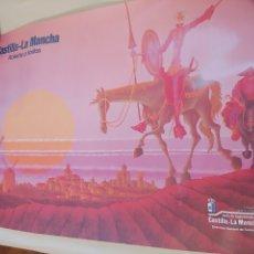 Carteles de Turismo: CARTEL CASTILLA LA MANCHA ABIERTA A TODOS 1984. Lote 272764358