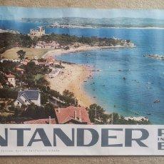 Carteles de Turismo: ANTIGUO CARTEL PUBLICITARIO DE TURISMO DE SANTANDER -PLAYA INTERNACIONAL DE ESPAÑA -85X41CM- AÑOS 60. Lote 277065428