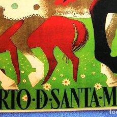 Carteles de Turismo: CARTEL POSTER RETRO - PUERTO DE SANTA MARIA, CADIZ - ANDALUCIA - FERIA DE PRIMAVERA AÑO 1953. Lote 279366368