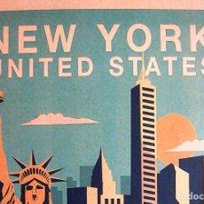 Carteles de Turismo: CARTEL POSTER RETRO - NEW YORK, NUEVA YORK, USA - ESTADOS UNIDOS.. Lote 287683688