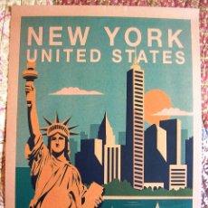 Carteles de Turismo: CARTEL POSTER RETRO - NEW YORK, NUEVA YORK, USA - ESTADOS UNIDOS.. Lote 287683813