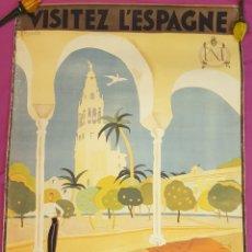 Cartazes de Turismo: CARTEL PUBLICITARIO DE CORDOBA PARA EXTRANJEROS DE LOS AÑOS 40 O 50. Lote 288875423