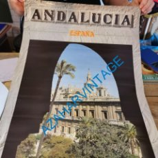 Carteles de Turismo: CARTEL PUBLICITARIO ANDALUCIA, SEVILLA, 1985, 50X70 CMS. Lote 289816718