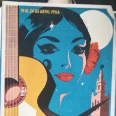 Carteles de Turismo: ANTIGUO CARTEL ,FERIA DE SEVILLA,ALVAREZ GAMEZ-GRAFICAS DEL SUR SEVILLA 1966. Lote 292049348