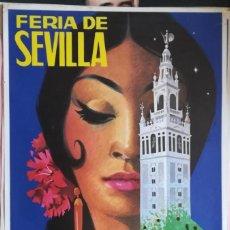 Carteles de Turismo: ANTIGUO CARTEL ,FERIA DE SEVILLA, SEMANA SANTA 1973. Lote 292577988