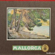 Carteles de Turismo: CARTEL TURISMO PALMA DE MALLORCA ERWIN HUBERT FOMENTO DE TURISMO PEQUEÑO FORMATO ORIGINAL. Lote 294448173