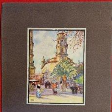 Carteles de Turismo: CARTEL TURISMO PALMA DE MALLORCA ERWIN HUBERT FOMENTO DE TURISMO PEQUEÑO FORMATO ORIGINAL. Lote 294448668