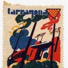 Carteles de Turismo: TARRAGONA 1936 SELLO TURISMO 3 X 5 CM.. Lote 297017238