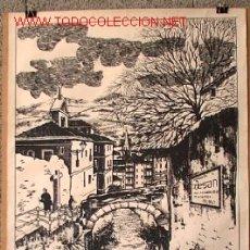 Carteles: CARTEL DE BILBAO LAS CALZADAS - DE BAYONA .. PINTADO K.TOÑO FRADE MIGA. Lote 15759720