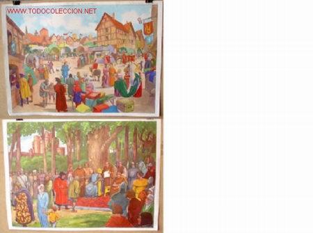 CARTELES DE HISTORIA DE ESCUELA .. FRANCESES - AÑOS 50 - 60 (Coleccionismo - Carteles Gran Formato - Carteles Varios)