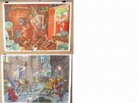CARTELES DE HISTORIA DE ESCUELA FRANCESES II .. AÑOS 50 - 60 (Coleccionismo - Carteles Gran Formato - Carteles Varios)