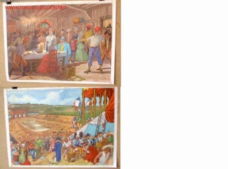 CARTELES DE HISTORIA DE ESCUELA FRANCESES - AÑOS 50 - 60 -- MILITAR (Coleccionismo - Carteles Gran Formato - Carteles Varios)