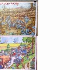 Carteles: CARTELES DE HISTORIA DE ESCUELA FRANCESES .. AÑOS 50 - 60 .. MILITAR. Lote 13780498